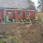 Die Terrassen werden angelegt
