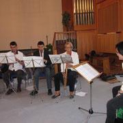 Göpel-Quartett mit Marciana an der Percussion