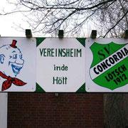 """Schild der Lötscher Vereine """"Molvere Dei"""" und Concordia Lötsch. Leider wurde das Schild ein Opfer vom Sturmtief Xynthia"""