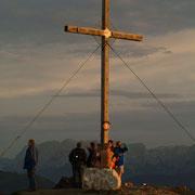 Sonnenaufgang auf dem Gipfel - Wandern Flachau