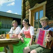Bauernjause Sommerurlaub Flachau