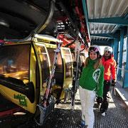 Ausstieg Ski-Gondel Flachau