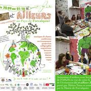 Animation d'ateliers pour la création du visuel de l'événement Ici et ailleurs à Forcalquier. Médira Tama.