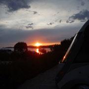 abends schöner Sonnenuntergang