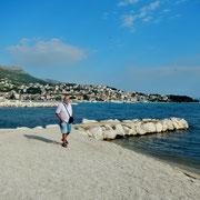 Am Strand vom Camping Strobrec-Split