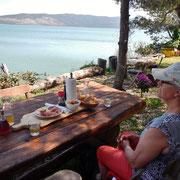 Toller Ausblick auf den Viansko See