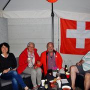 Nach der Bundesfeier im Camping Beizli