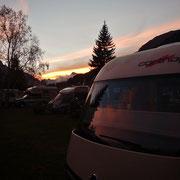 Abendstimmung auf dem Camping