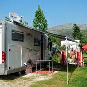 Unser Stellplatz auf Camping Strobrec-Split