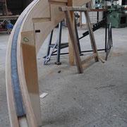 Ajustage de la lisse basse en fer forgé