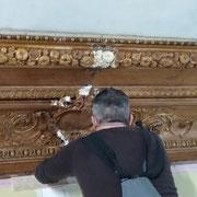 Raccordement des moulures en plâtre