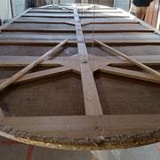 Préparation à la mise en place de la toile du plafond