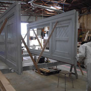 Mise en peinture du portail d'axe