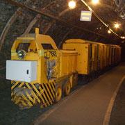 Galerie reconstituée avec locotracteur