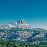 Banque image Provence - Sainte Victoire - neige- Aix en provence