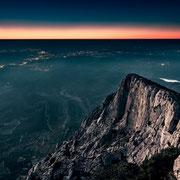 Banque image Provence - Sainte victoire - coucher du soleil - Aix en provence