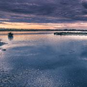 Banque image Provence - Camargue - coucher du soleil