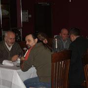 v.l. Ing. Kolenic (SK), J. Navratil (CZ), J. Brachtl (CZ), J. Holan (CZ) Ing. Gajda (CZ) u. Übersetzerin Jana