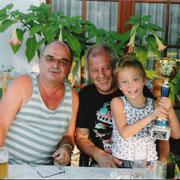 Bei H. Horvath mit Enkel Julian.