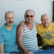 Gefrühstückt wurde bei G.Meier, v.l. H.Fink, D.Stanke, G.Meier