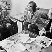 Christo im Gespräch mit Altbundeskanzler Willy Brandt // Foto: Wolfgang Volz