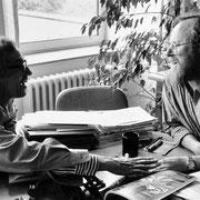 Christo im Gespräch mit Wolfgang Thierse (SPD) // Foto: Wolfgang Volz