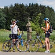 Bayerisch-Böhmischer Freudschaftsweg am Marterl bei Oberviechtach
