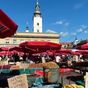 Der Dolac Markt im Herzen von Zagreb