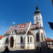 Die St. Markus Kirche ist die Pfarrkirche der Oberstadt Gornji Grad von Zagreb