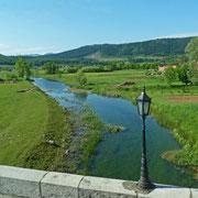 Der Fluss Gacka mit den berühmten Bachforellen (Salmo trutta)