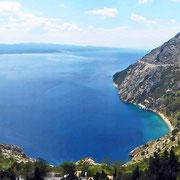 Der erste phantastische Blick auf die Makarska Riviera - grandios!