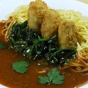 牡蠣のあんかけスパゲティ
