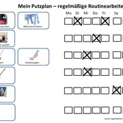 Einfacher Putzplan zum Download für regelmäßige Routinearbeiten im Haushalt