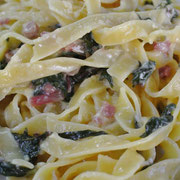 Spaghetti Carbonara mit Eiern