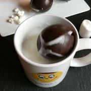 Hot chocolate bombs für heiße Schokolade