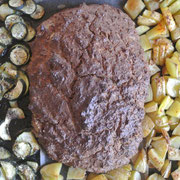 Hackbraten vegetarisch für Thermomix mit Gemüse vom Blech