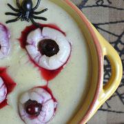 Augen in Eiter für Halloween