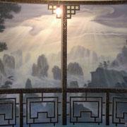 Роспись стен бассейна в восточном стиле