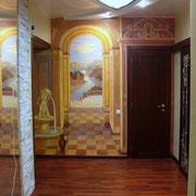 Роспись стен квартиры на Грибоедова.