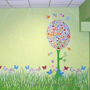 Роспись стен в детском оздоровительном центре «Маленький ангел»
