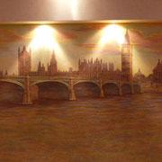 роспись  зала с верхней подсветкой