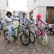 Mit dem Biketempel beim Eschborner Faschingsumzug 2013