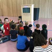 Abschlussfest einer Spielgruppe mit Kasperlitheater