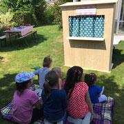 Sommerparty mit Kinderunterhaltung Kasperli