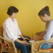 Verknüpfung mit verbalem Bewusstsein, Dialog, Austausch