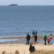 Duhner Strand mit Blick auf das Meer