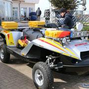 Das neue Watt-Rettungsfahrzeug in Cuxhaven Duhnen