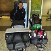 Ankunft am Flughafen Melbourne