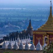 Irrawaddy-Fluss von Sagaing Hügel