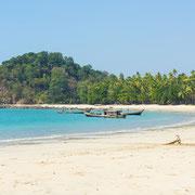 Auch das ist Myanmar. Traumstrände und Palmen.
